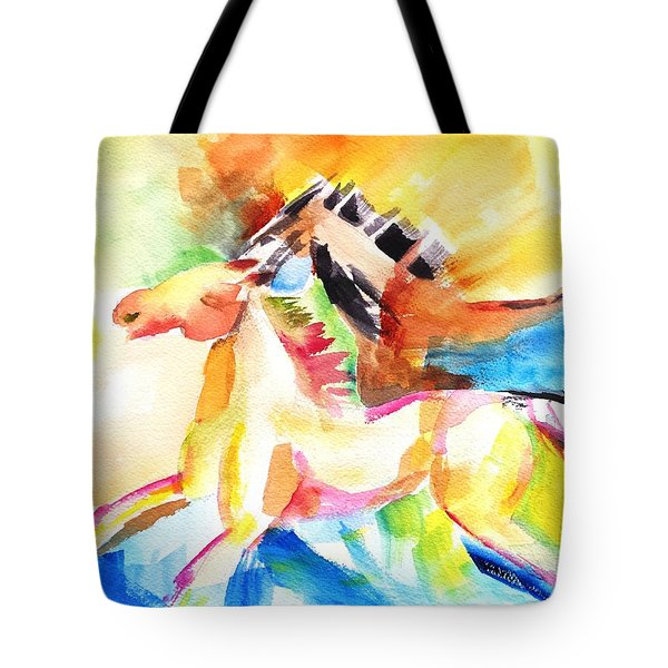 Running Horses Color Tote Bag