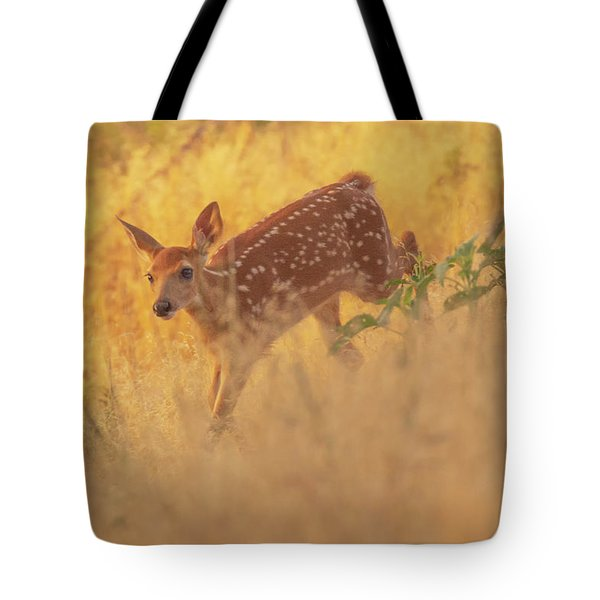 Running In Sunlight Tote Bag