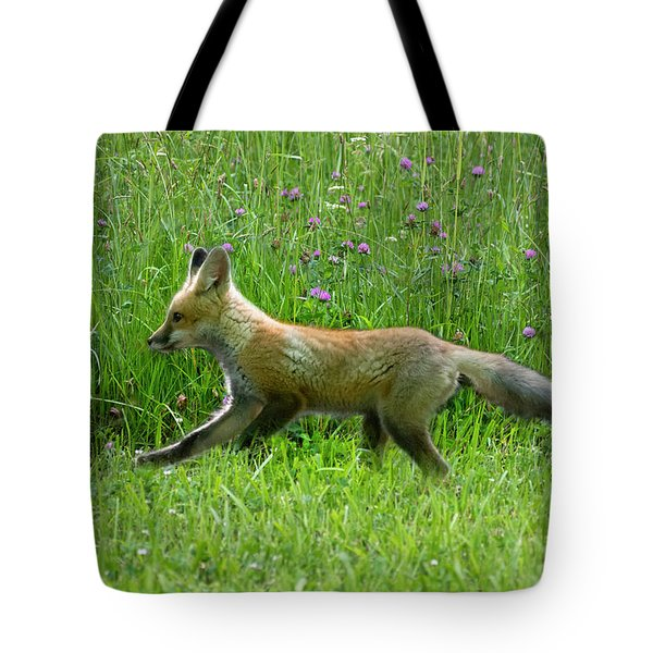 Running In The Field Tote Bag