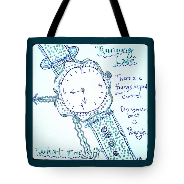 On Time Tote Bag by Carole Brecht