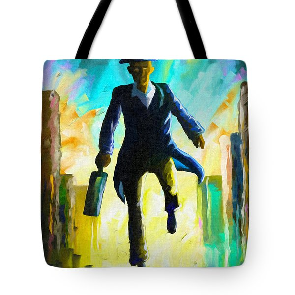 Running Man Tote Bag