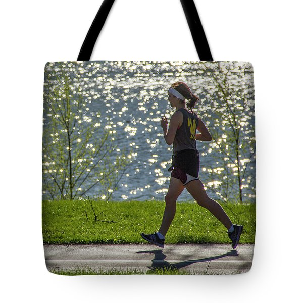 Running On Air Tote Bag