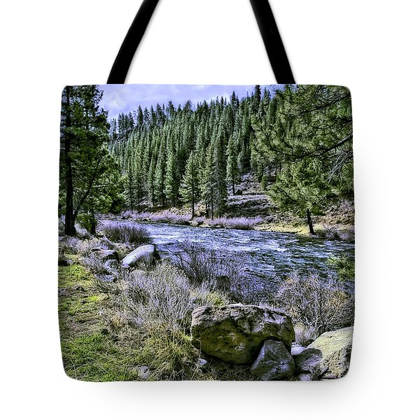 Running River-2 Tote Bag