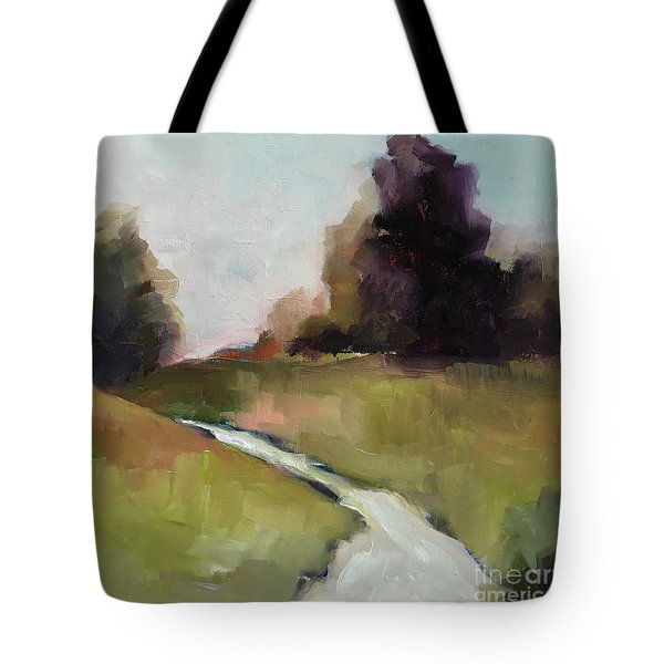 Tote Bag featuring the painting Running Stream by Michelle Abrams