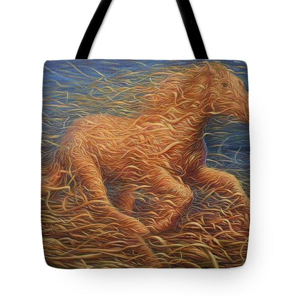 Running Swirly Horse Tote Bag