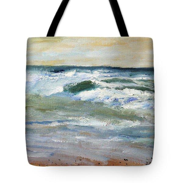 Running The Beach Tote Bag