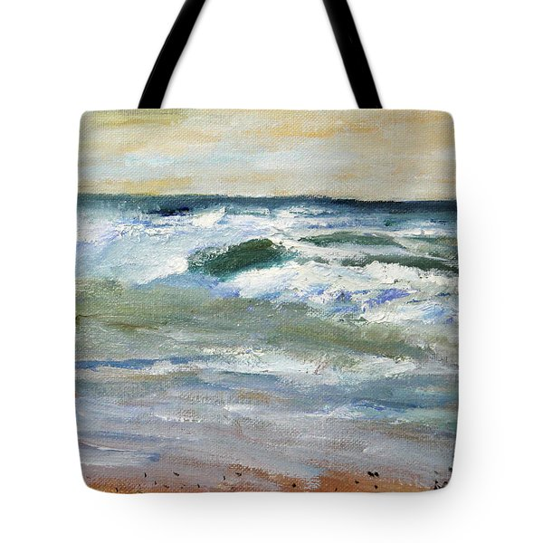 Running The Beach Tote Bag
