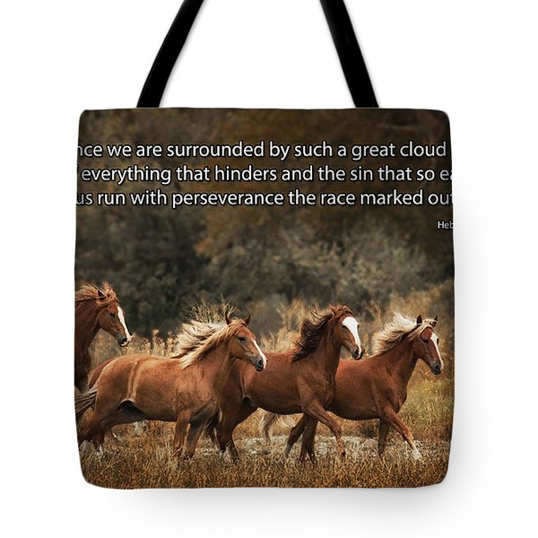 Running The Race Tote Bag