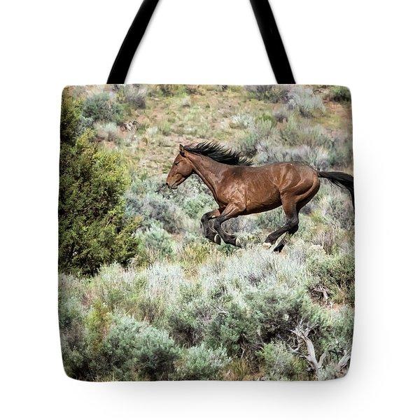 Running Through Sage Tote Bag