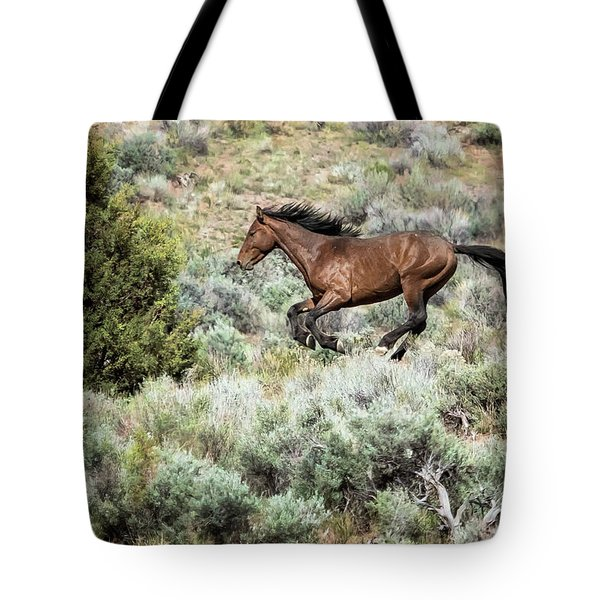 Running Through Sage Tote Bag
