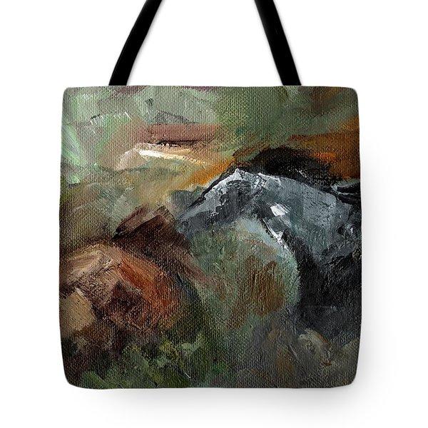 Running Through  Sage Tote Bag by Frances Marino