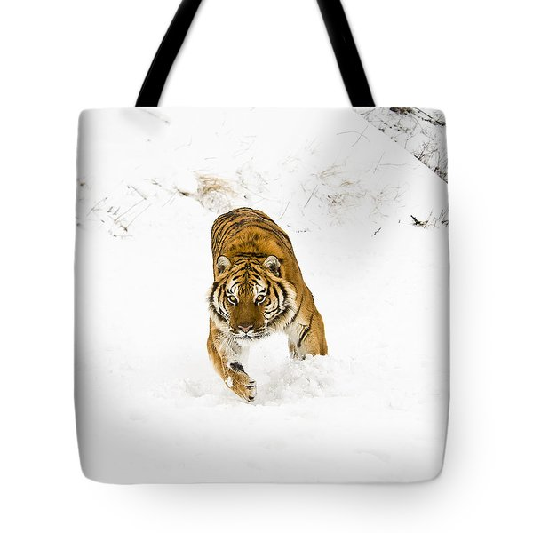 Running Tiger Tote Bag
