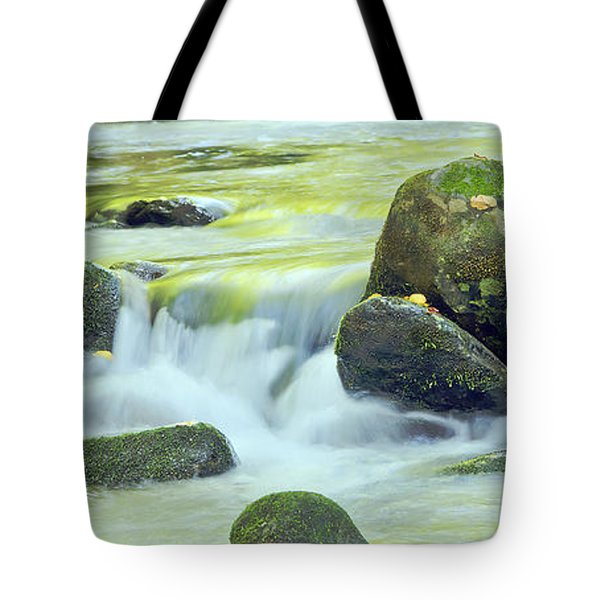 Tote Bag featuring the photograph Running Water by Wanda Krack
