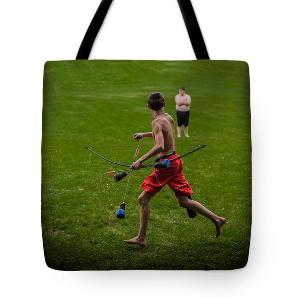Running With Arrows Tote Bag by Ray Congrove