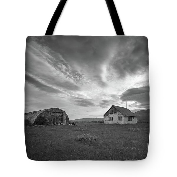 Rural Decay In Iceland Bw Tote Bag