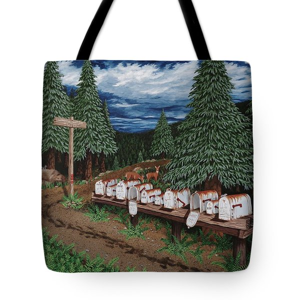 Tote Bag featuring the painting Rural Delivery by Katherine Young-Beck