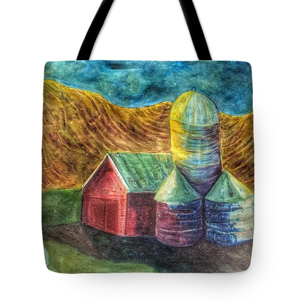 Rural Farm Tote Bag by Jame Hayes