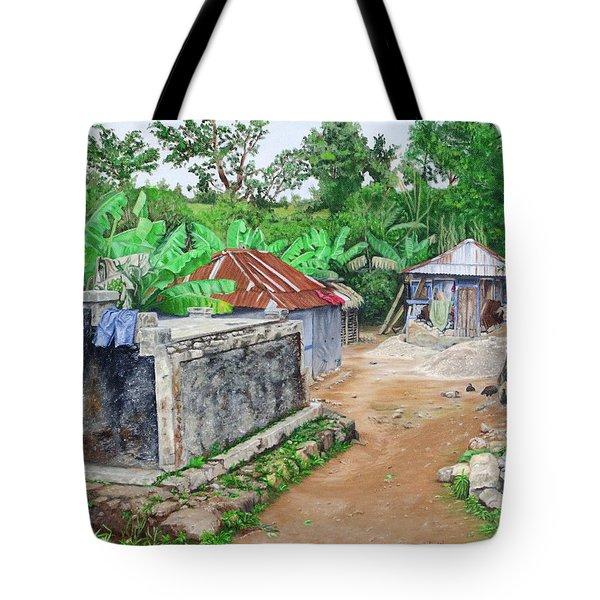 Rural Haiti - A Study In Poignancy Tote Bag