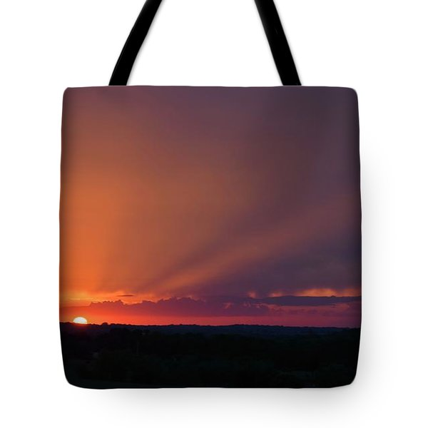 Rural Kansas Sunset Tote Bag
