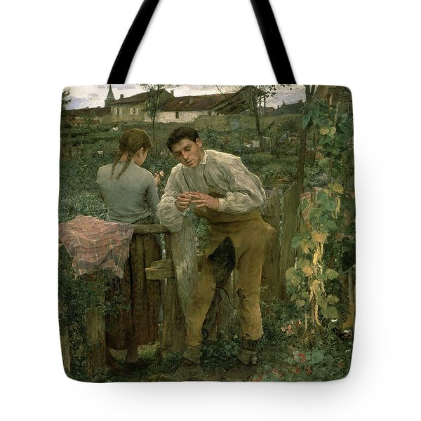 Rural Love Tote Bag by Jules Bastien Lepage