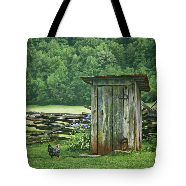 Tote Bag featuring the photograph Rural Outhouse by Nikolyn McDonald