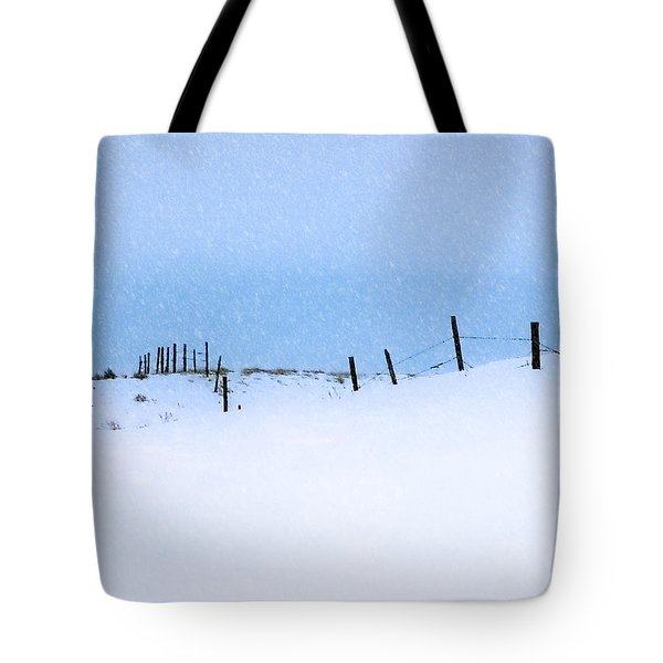 Rural Prairie Winter Landscape Tote Bag by Blair Wainman