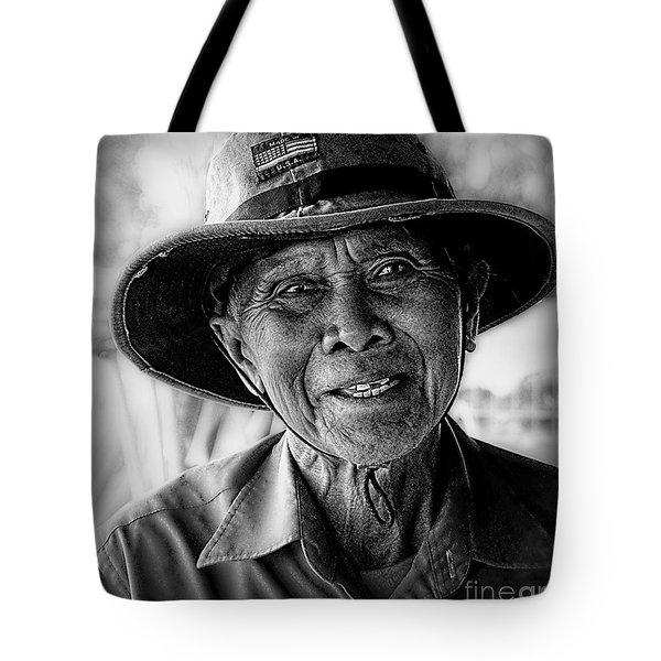 Rural Rice Farmer Tote Bag
