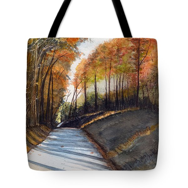 Rural Route In Autumn Tote Bag
