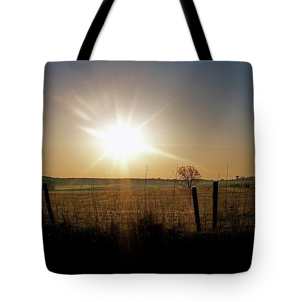 Rural Sunrise Tote Bag by Sue Stefanowicz