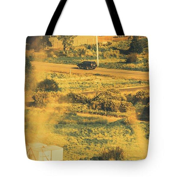 Rural Tasmania Landscape At Summer Tote Bag