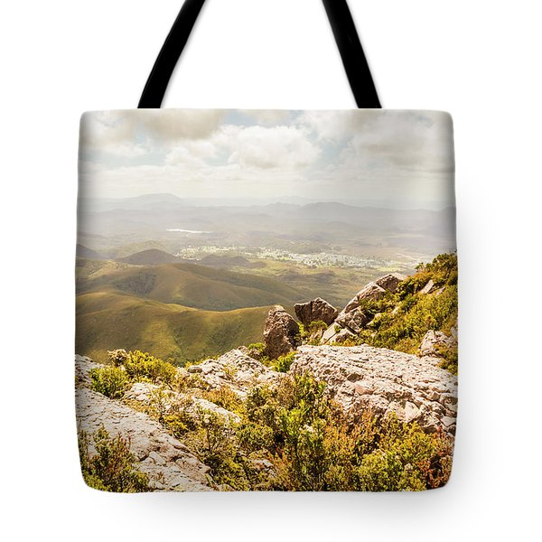 Rural Town Valley Tote Bag