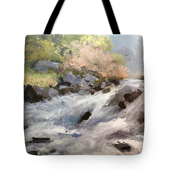 Tote Bag featuring the painting Rush by Helen Harris