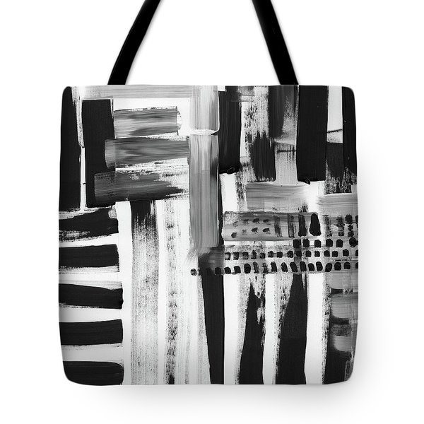 Tote Bag featuring the mixed media Rush Hour- Art By Linda Woods by Linda Woods