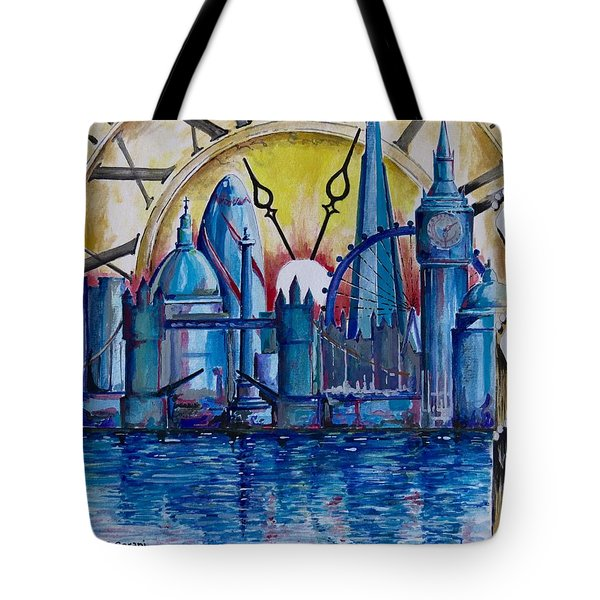 Rush Hour In London Tote Bag