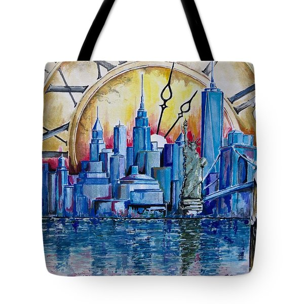 Rush Hour In New York  Tote Bag