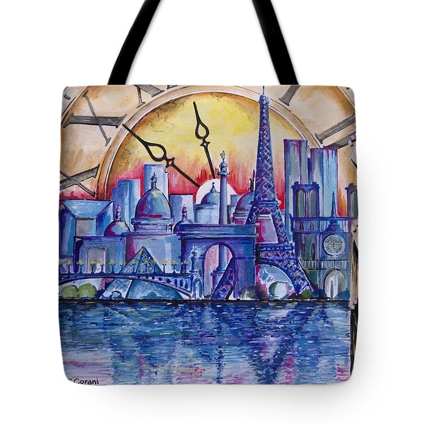 Rush Hour In Paris Tote Bag