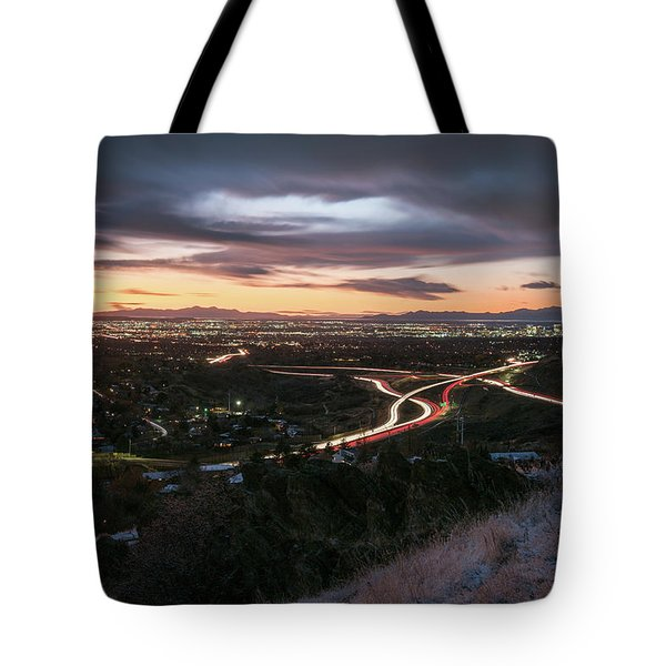 Rush Hour In Salt Lake City Tote Bag