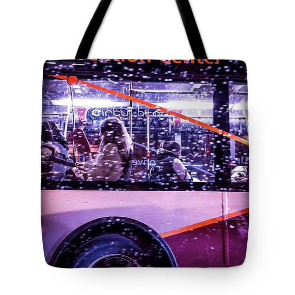 Rush Hour On A Rainy Monday Evening In Tote Bag