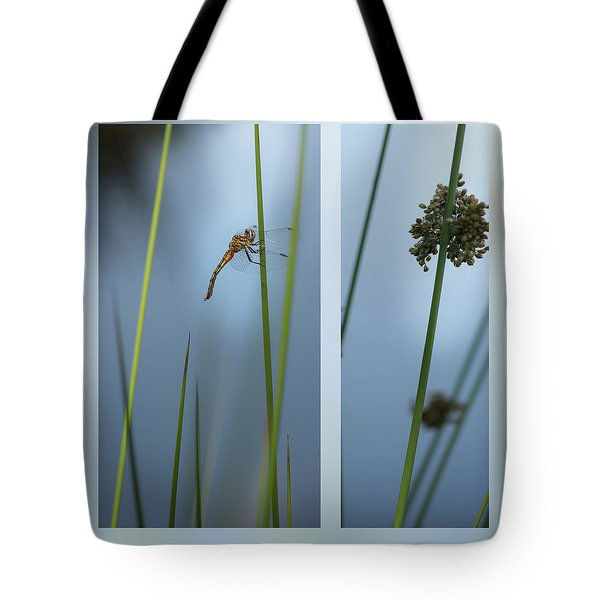 Rushes And Dragonfly Tote Bag