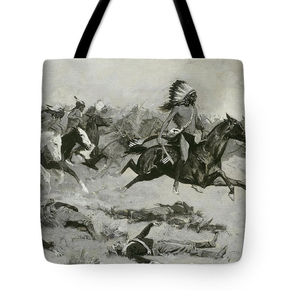 Rushing Red Lodges Passed Through The Line Tote Bag