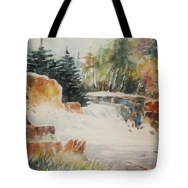 Rushing Streambed Tote Bag by Al Brown