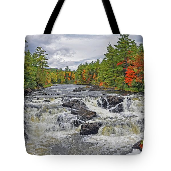 Rushing Towards Fall Tote Bag by Glenn Gordon