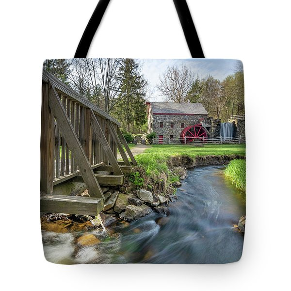Rushing Water At The Grist Mill Tote Bag