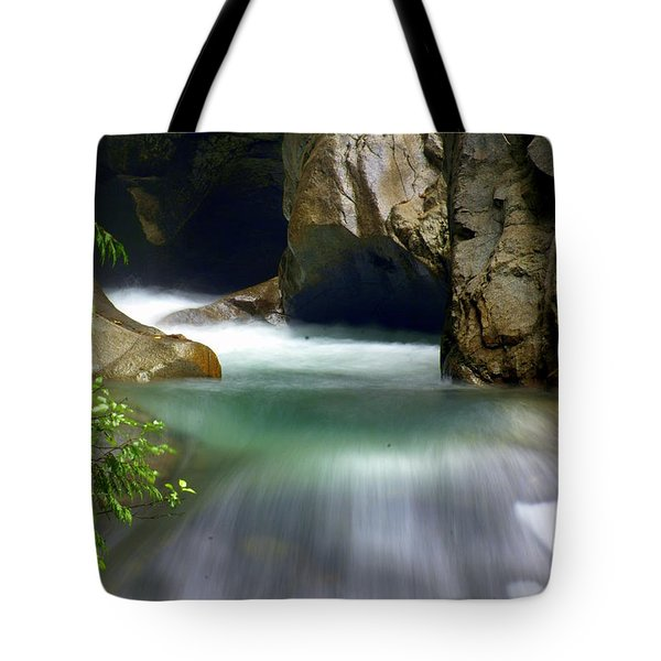 Rushing Water Tote Bag by Marty Koch