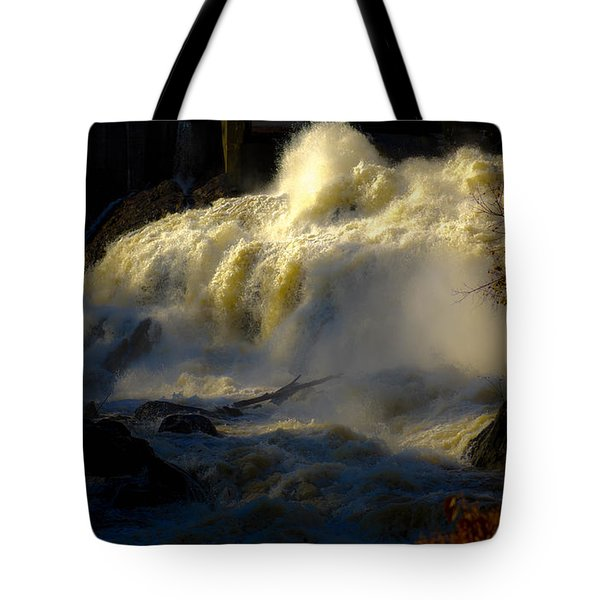 Rushing Water Tote Bag by Sherman Perry