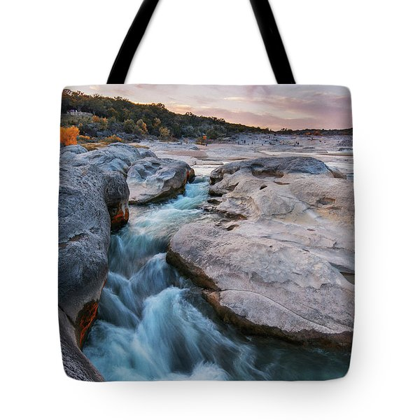 Rushing Waters At Pedernales Falls State Park - Texas Hill Country Tote Bag