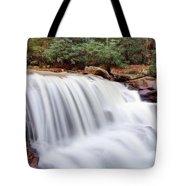 Tote Bag featuring the photograph Rushing Waters Of Decker Creek by Gene Walls
