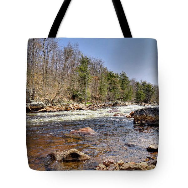 Tote Bag featuring the photograph Rushing Waters Of The Moose River by David Patterson