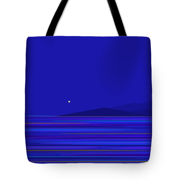 Tote Bag featuring the digital art Rushing Waters by Val Arie