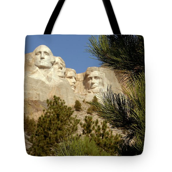 Rushmore Pine Needles Tote Bag by Mike Oistad